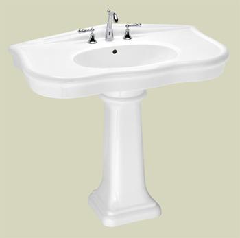 St. Thomas Creations 5050.082.01 Parisian Grande Pedestal Lavatory Slab - White