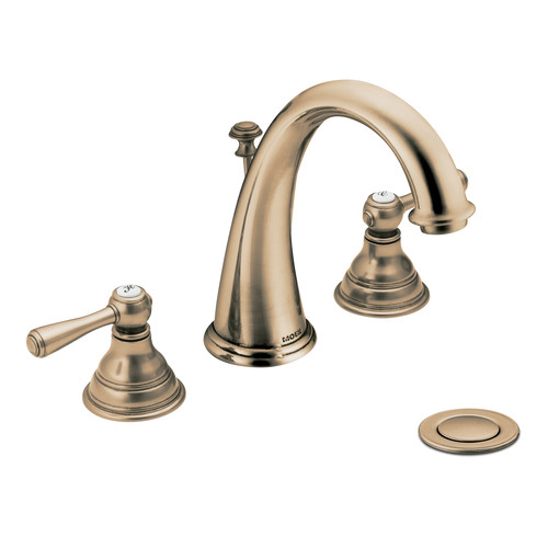 Moen T6125AZ Kingsley Two-Handle Widespread Lavatory Faucet Trim - Antique Bronze