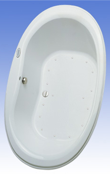 Toto ABA756R-12LCP Mercer Acrylic Air Bath - Sedona Beige (Pictured in Cotton White)