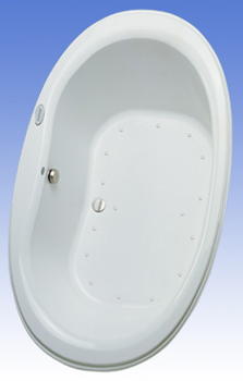 Toto ABA756R-12YCP Mercer Acrylic Air Bath - Sedona Beige (Pictured in Cotton White)