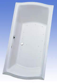 Toto ABA784L-01TC Clayton Air Bathtub - Cotton White