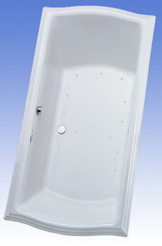 Toto ABA784L-01YCP Clayton Acrylic Air Bath - Cotton White