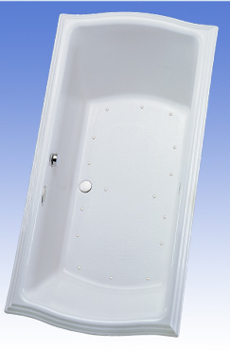 Toto ABA784L-12LCP Clayton Acrylic Air Bath - Sedona Beige (Pictured in Cotton White)