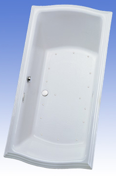 Toto ABA784L-12NC Clayton Air Bathtub - Sedona Beige (Pictured in Cotton White)