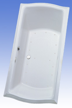 Toto ABA784L-12TC Clayton Air Bathtub - Sedona Beige (Pictured in Cotton White)