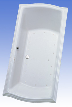 Toto ABA784L-12YCP Clayton Acrylic Air Bath - Sedona Beige (Pictured in Cotton White)