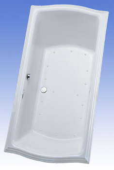 Toto ABA784R-01LCP Clayton Acrylic Air Bath - Cotton White