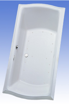 Toto ABA784R-01NC Clayton Air Bathtub - Cotton White