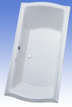 Toto ABA784R-01TC Clayton Air Bathtub - Cotton White