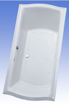 Toto ABA784R-01YCP Clayton Acrylic Air Bath - Cotton White