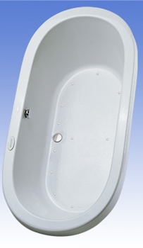 Toto ABA794L-01YCP Nexus Acrylic Air Bath - Sedona Beige (Pictured in Cotton White)