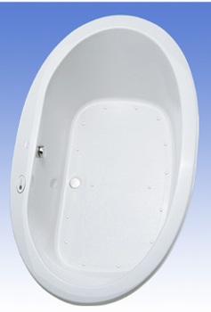 Toto ABA904L-01LCP Pacifica Acrylic Air Bath - Sedona Beige (Pictured in Cotton White)