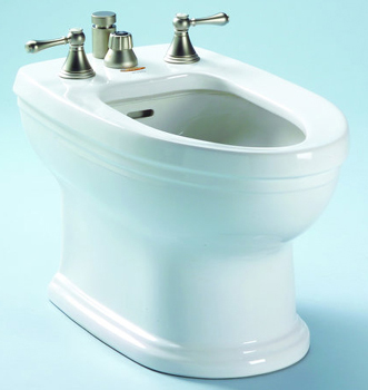 Toto BT774B-01 Carrollton Residential Bidet - Cotton White