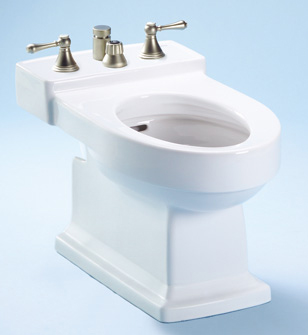 Toto BT930B-03 Lloyd Vertical Spray Bidet - Bone (Pictured in Cotton White)