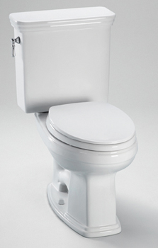 Toto CST424EF-01 Eco Promenade Elongated Two Piece Toilet - Cotton White