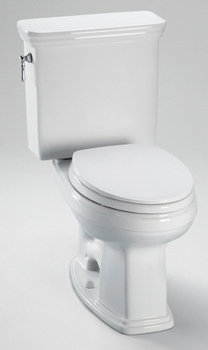 Toto CST424EF-03 Promenade High Efficiency Residential Close Coupled Toilet 1.28 GPF - Bone (Pictured in Cotton White)