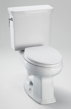 Toto CST424EF-11 Promenade High Efficiency Residential Close Coupled Toilet 1.28 GPF - Colonial White (Pictured in Cotton White)