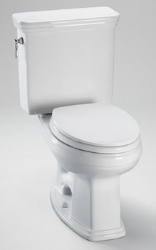 Toto CST424EF-51 Promenade High Efficiency Residential Close Coupled Toilet 1.28 GPF - Ebony (Pictured in Cotton White)