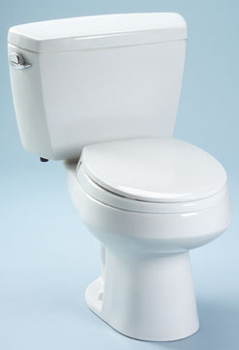 Toto CST715-01 Carusoe Suite Two Piece Round Toilet - Cotton White
