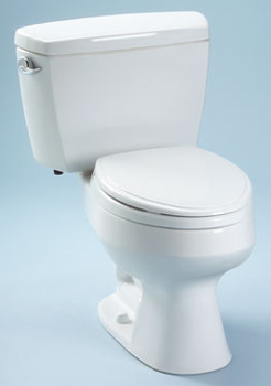 Toto CST716-01 Carusoe Suite Two Piece Elongated Toilet - Cotton White