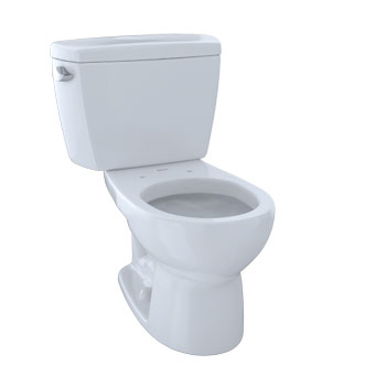 Toto CST743E-01 Eco Drake Suite Two Piece Round Toilet - Cotton White