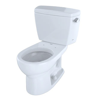 Toto CST743SR-51 Drake Suite Two Piece Round Toilet - Ebony (Pictured in Cotton White)