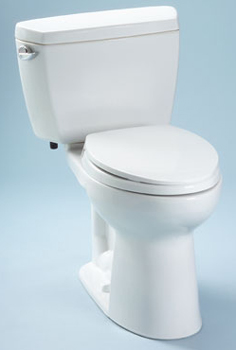 Toto CST744SD-01 Drake Suite Two Piece Elongated Toilet - Cotton White