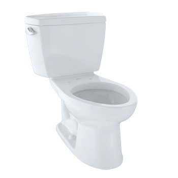 Toto CST744SL-01 Drake Residential Close Coupled Toilet - Cotton White