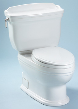 Toto CST774S-11 Carrollton Suite Two Piece Elongated Toilet - Colonial White (Pictured in Cotton White)