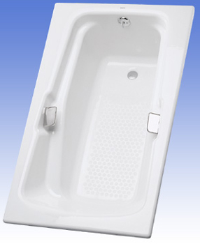 Toto FBY1800P-01 Enameled Cast Iron Tub - Cotton White