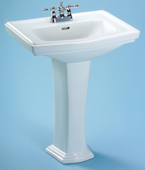 Toto LPT780.8-01 Clayton Pedestal Lavatory - Cotton White