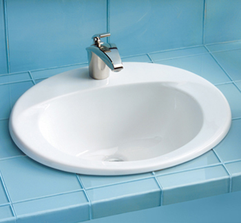 Toto LT511.8G-01 Supreme Suite Self Rimming Lavatory Sink w/ Faucet Holes on 8