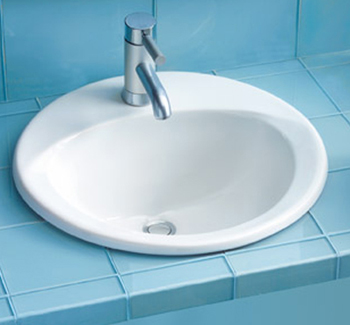 Toto LT512.4G-12 Ultimate Suite Self Rimming Lavatory Sink w/ Faucet Holes on 4