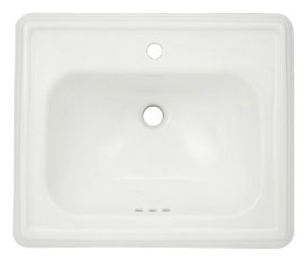 Toto LT531-01 Promenade Self Rimming Lavatory - Cotton White