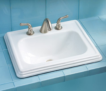Toto LT531.4-01 Promenade Suite Self Rimming Lavatory Sink w/ Faucet Holes on 4