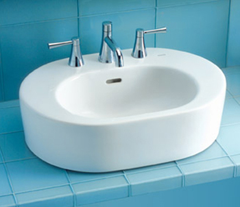 Toto LT791-03 Nexus Suite Vessel Lavatory Sink w/ Single-Hole Faucet Mount - Bone (Pictured in Cotton White)