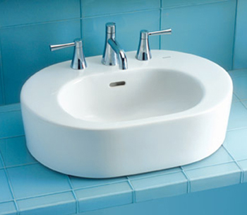Toto LT791.8-11 Nexus Suite Vessel Lavatory Sink w/ Faucet Holes on 8