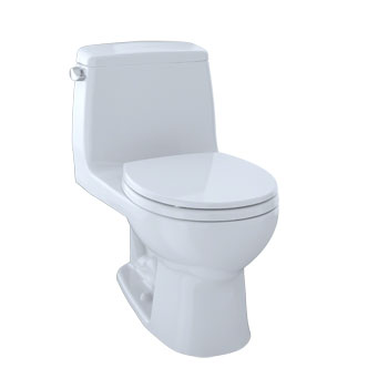 Toto MS853113E-01 Eco Ultimate Suite One Piece Round Toilet - Cotton White