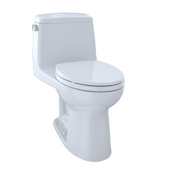 Toto MS854114SG-01 Augusta Decorative Collection Ultramax One Piece Elongated Toilet with SanaGloss, 1.6 GPF - Cotton White