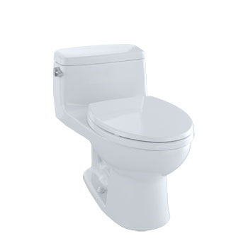 Toto MS864114E-01 Eco Supreme Suite One Piece Toilet - Cotton White
