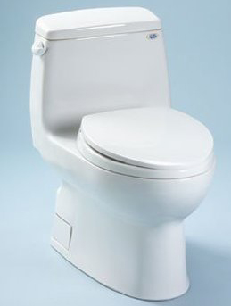 Toto MS874114SG-11 Carlyle Residential One-Piece Toilet 1.6 GPF With Sanagloss - Colonial White