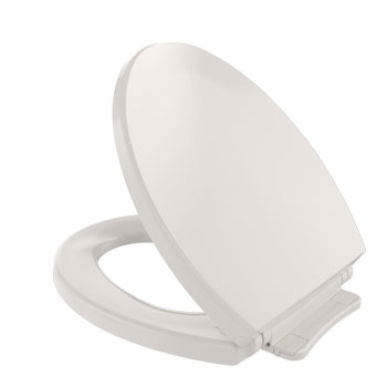 Toto SS113-12 Soft Close Round Front Toilet Seat - Sedona Beige (Pictured in Cotton White)