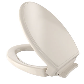 Toto SS154-03 Traditional SoftClose Elongated Toilet Seat - Bone (Pictured in Cotton White)