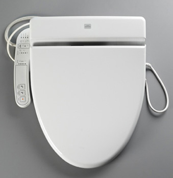 Toto SW523-11 Washlet C110 Round Toilet Seat - Colonial White (Pictured in Cotton White)