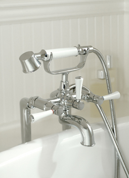 Toto TB784DDN Clayton Deck-Mount Bath Faucet - Brushed Nickel (Pictured in Chrome)