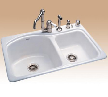 Toto FSW420GS5-01 BRIDGEPORT CAST IRON SINK 5-HOLE SELF RIM TYPE - Cotton