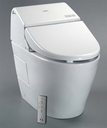 Toto MS970CEMFG-12 Washlet G500 with Intergrated Toilet - Sedona Beige (Pictured in White)