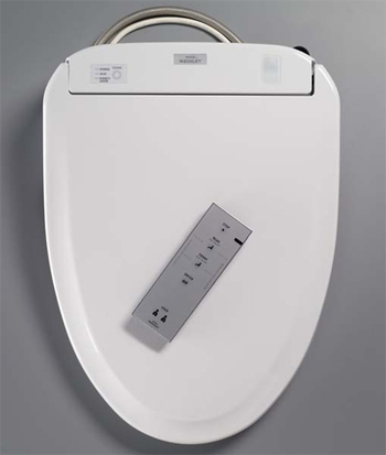 Toto SW574-12 Washlet S300e Elongated Toilet Seat with eWater+ - Sedona Beige (Pictured in Cotton White)