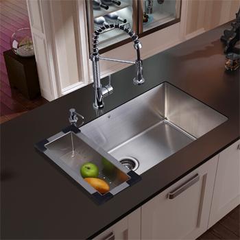 Vigo Vg15112 Undermount Kitchen Sink Faucet Colander And