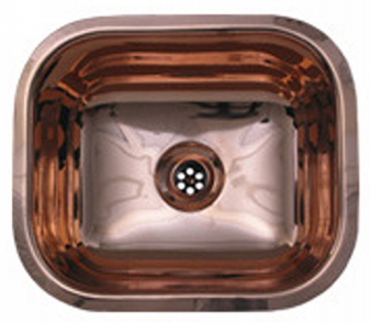 Whitehaus WH690CBL Entertainment/Prep Area Undermount Sink - Polished Copper